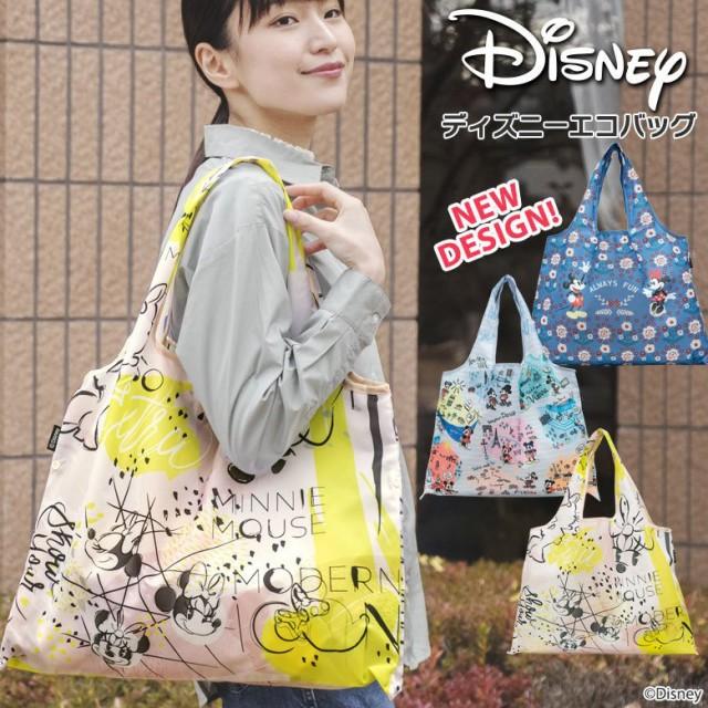 ディズニー エコバッグ ショッピングバッグ DISNEY 大容量 折りたたみ コンパクト おしゃれ かわいい キャラクター