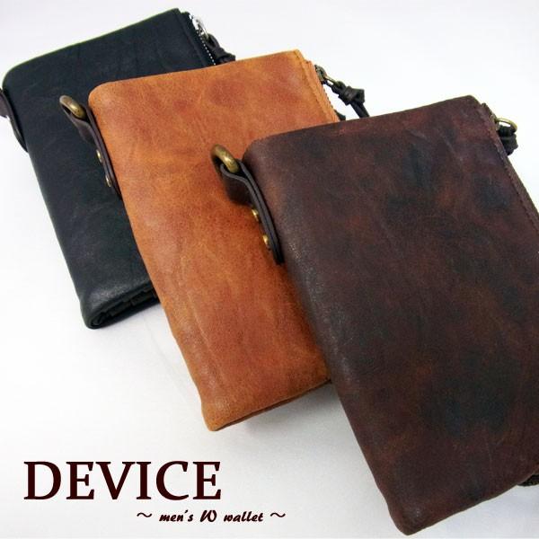 デバイス 財布 二つ折り DEVICE ヴィンテージ メ...