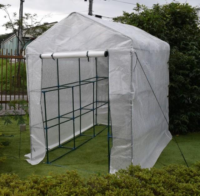 園芸用菜園ハウス 大 長さ214×幅143×高さ195cm ...