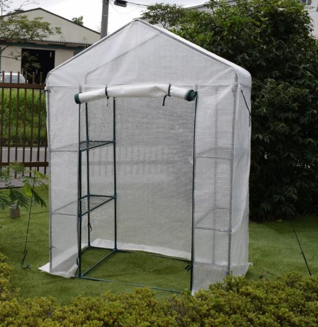 園芸用菜園ハウス 小 長さ73×幅143×高さ195cm ...