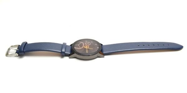 腕時計  ビッグサークルタイプ  ネイビー革ベ...