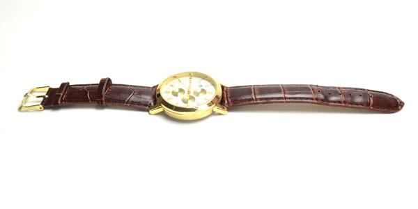腕時計  ビッグサークルタイプ  ブラウン革ベ...