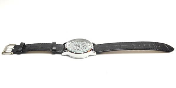 腕時計  ビッグサークルタイプ  ブラック革ベ...