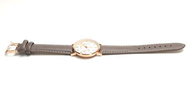 腕時計  ビッグサークルタイプ  グレー革ベル...
