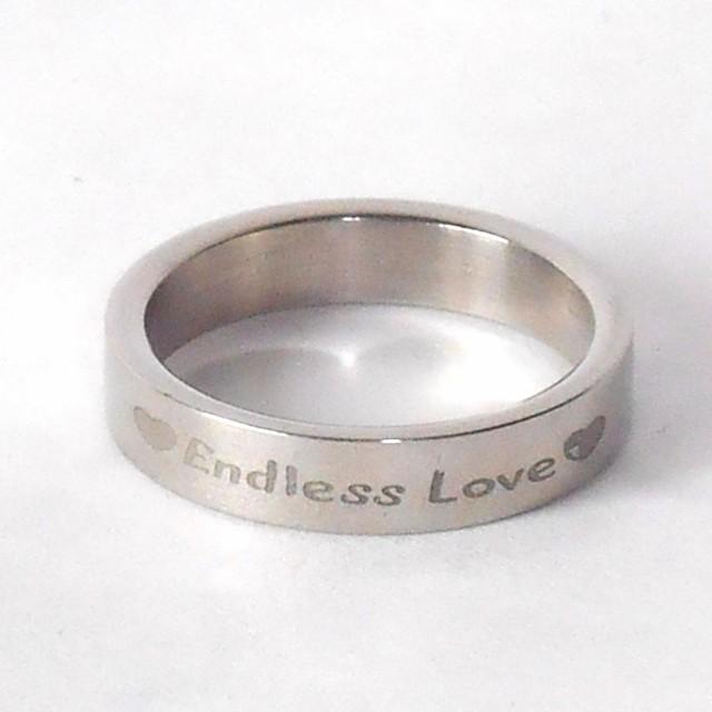 Endless Love 永遠の愛 ステンレス リング 12号 ...