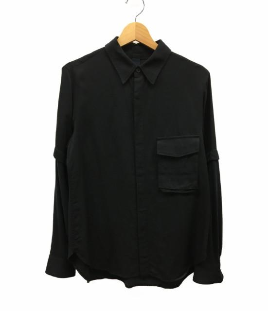 ヨウジヤマモト Layerd Black Shirt レイヤードブ...
