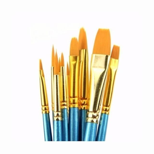 ペイントブラシ 水彩画筆 絵画 油絵用筆 画筆 10...