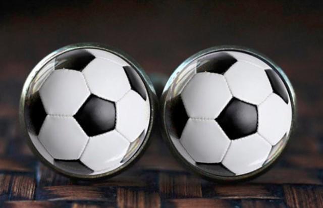 カフスボタン カフリンクス サッカーボール