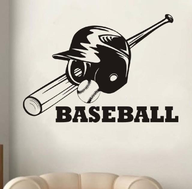 ウォールステッカー 野球 ベースボール ヘルメッ...