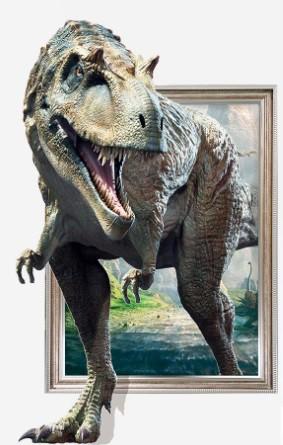 ウォールステッカー 飛び出す 恐竜 はがせるシー...