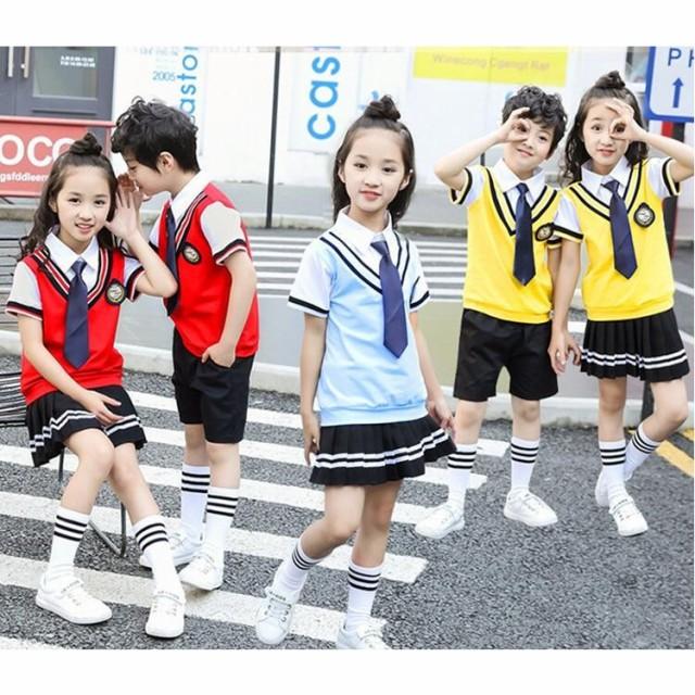 イギリス風子供/普通着学生服幼稚園服/女の子重ね...