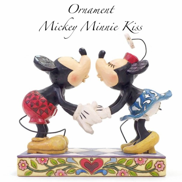 ミッキー&ミニー キス グッズ 置物 Disney Tradi...