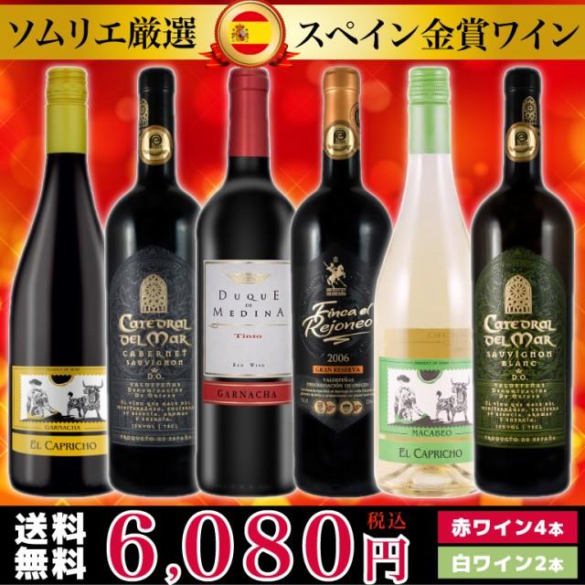 ソムリエ厳選 スペイン金賞ワイン6本セット(750...