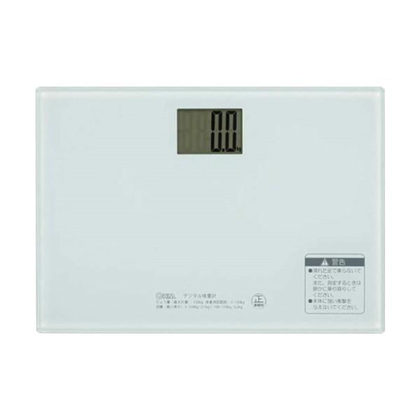 【送料無料】OHM デジタル体重計 ホワイト 08-007...