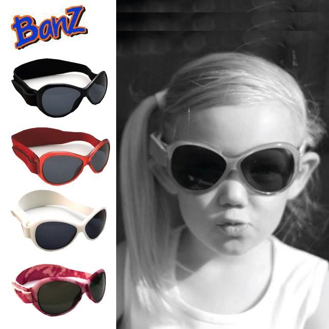 ベビー用 キッズ用 サングラス 赤ちゃん用 子供用 紫外線対策 UV BABY BANZ バンズ ベビーサイズ キッズサイズ ベルト式 メガネ