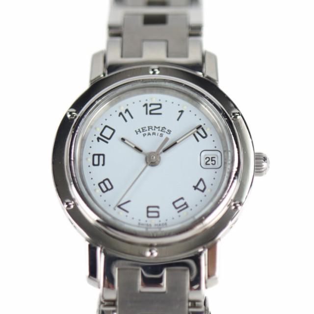 美品 HERMES エルメス クリッパー CL4.210 腕時計...