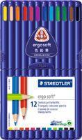 ステッドラー エルゴソフト 色鉛筆 12色セット...