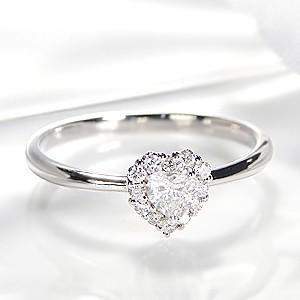 pt900 「0.25ctUP」 ハートカット ダイヤモンド ...