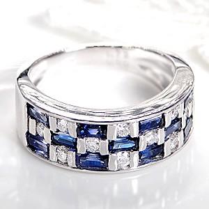 pt900 サファイア ダイヤモンド リング ジュエリ...