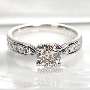 pt900 ブラウンダイヤモンド リング 「ソーティン...