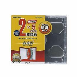 ●◆10個セット エレコム Blu-ray/DVD/CDケース(...
