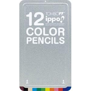 トンボ鉛筆  スライド缶入色鉛筆 NAN01 12色
