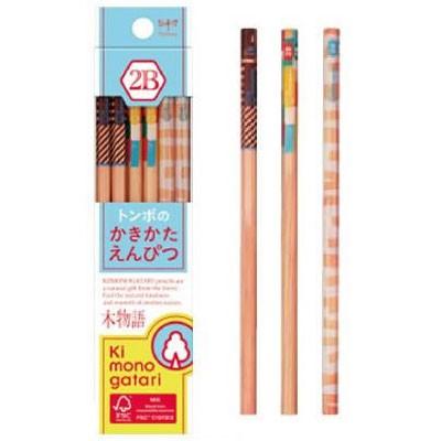 トンボ鉛筆  かきかた鉛筆F木物語 2B01 水色