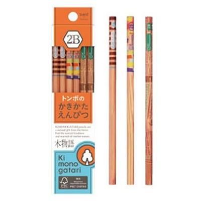 トンボ鉛筆  かきかた鉛筆F木物語 2B03 オレン...