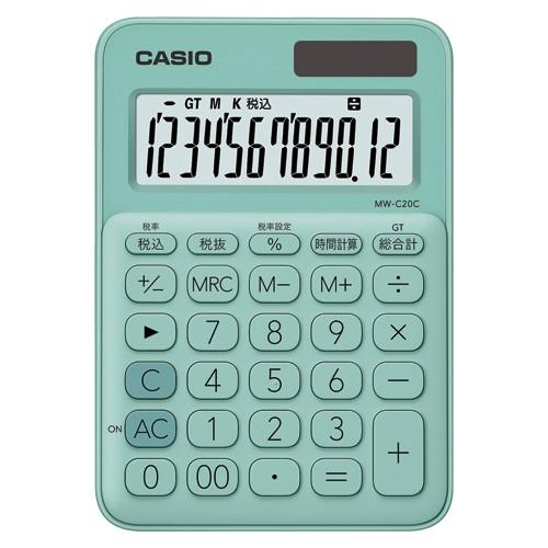 カシオ  電卓 ミニジャスト 12桁