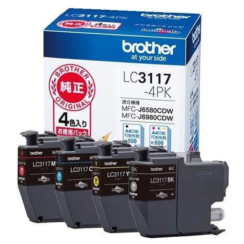 ブラザー  インクジェットカートリッジ LC3117-4P...