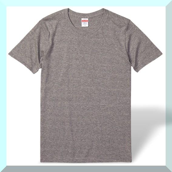 質実剛健、綿100%Tシャツ・グレー:L