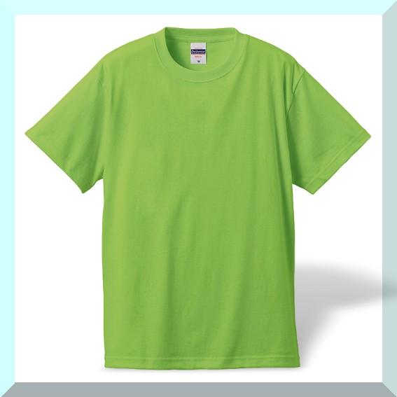 質実剛健、綿100%Tシャツ・ライム:M:L