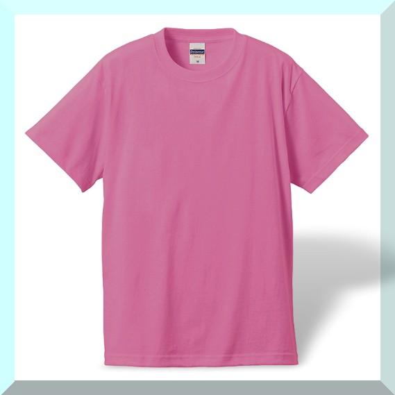 質実剛健、綿100%Tシャツ・桜ピンク:L