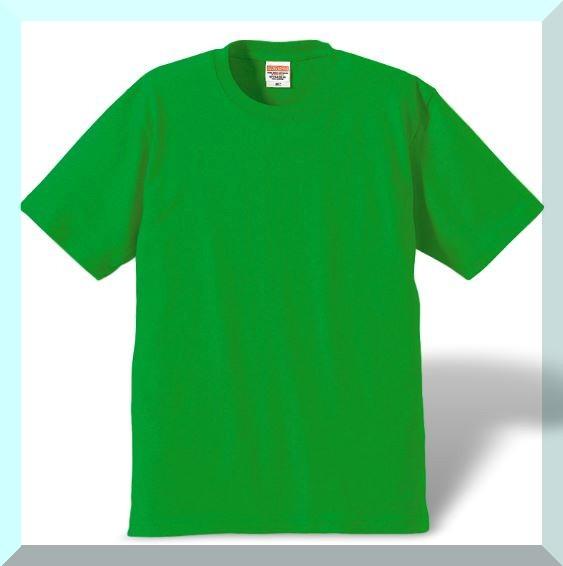 質実剛健、綿100%Tシャツ・新緑グリーン:M