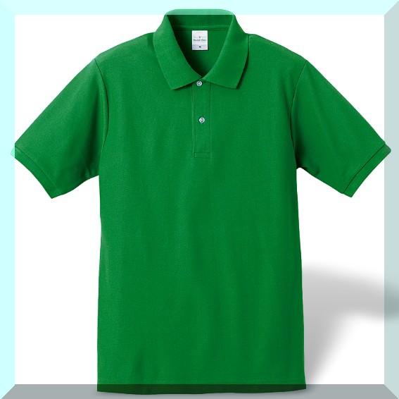 スッキリポロシャツ・新緑グリーン:L