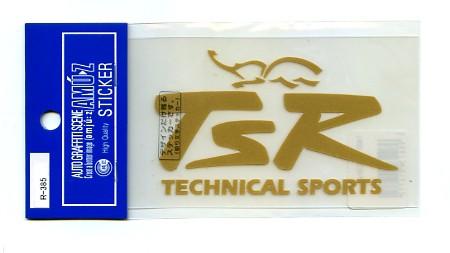 TSR(テクニカルスポーツ)ステッカー切文字タイプ...