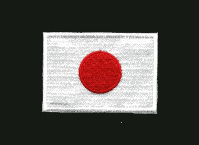 日本国旗ワッペン SMサイズ【JAPAN 服飾】