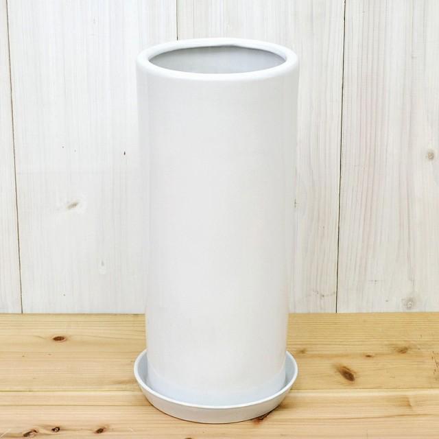 円柱形陶器鉢M ホワイト 7号サイズ