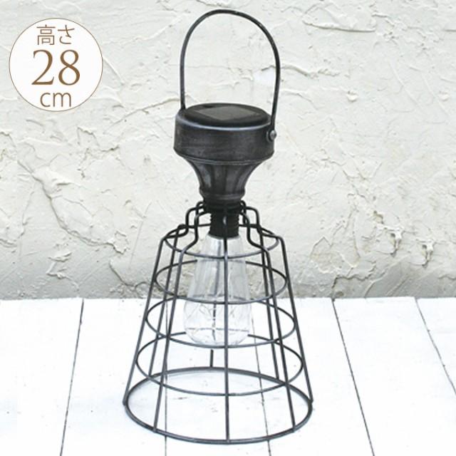 アンティーク LED ソーラーテーブルランプ 屋外 ...