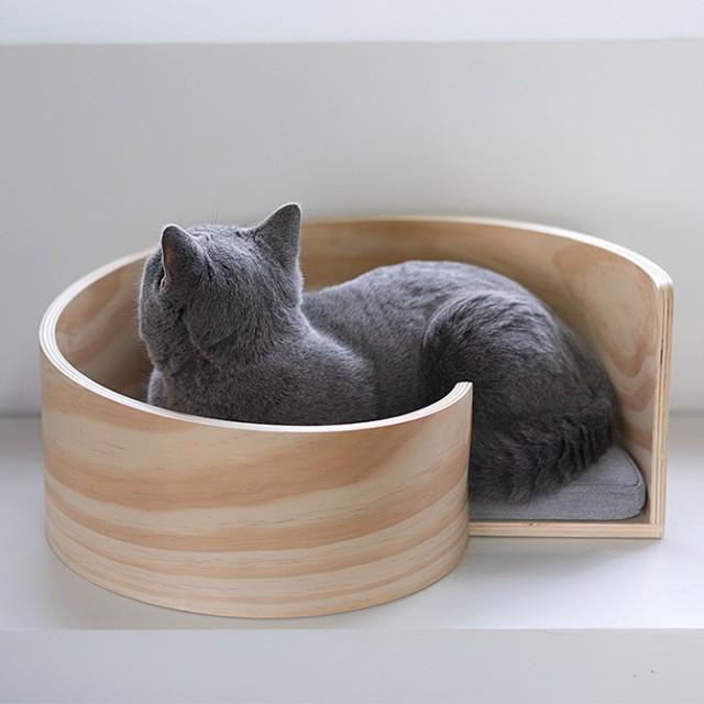 pidan ピダン Spiral Cat Bed 木製のスパイラル型...