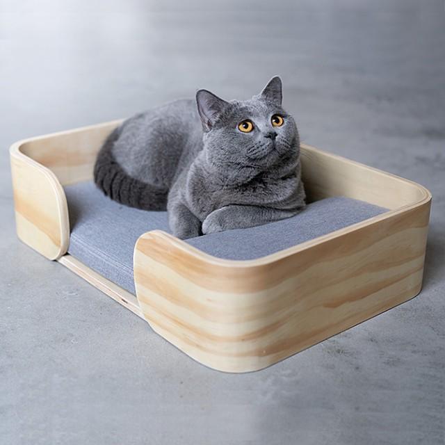 pidan ピダン Rectangle Cat Bed 木製のレクタン...