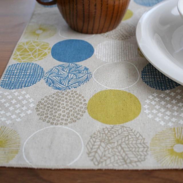 &NE アンドエヌイー ランチョンマット  ランチョンマット 北欧 おしゃれ 布 日本製 柄 リバーシブル 洗濯 シンプル 食卓