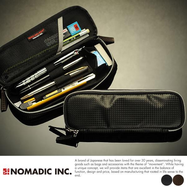 NOMADIC ノーマディック カーボン調2階建てペンケ...