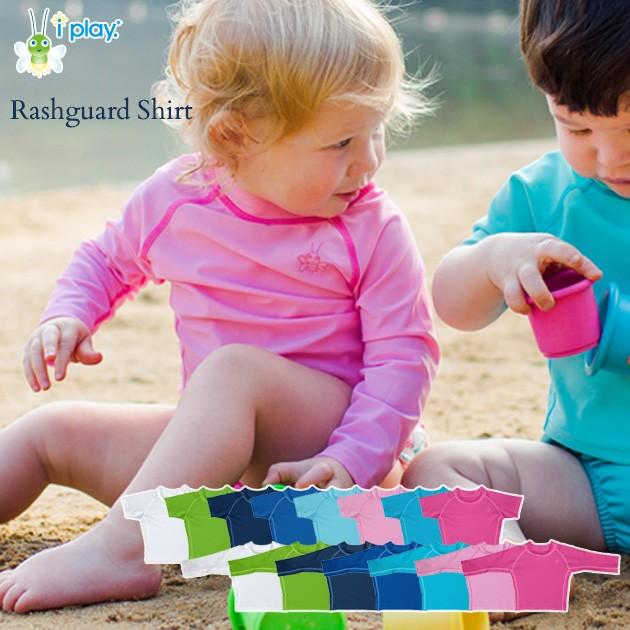 i play(アイプレイ) ラッシュガード 770100-000-43 アイプレイ 長袖 半袖 紫外線対策  女の子用 男の子