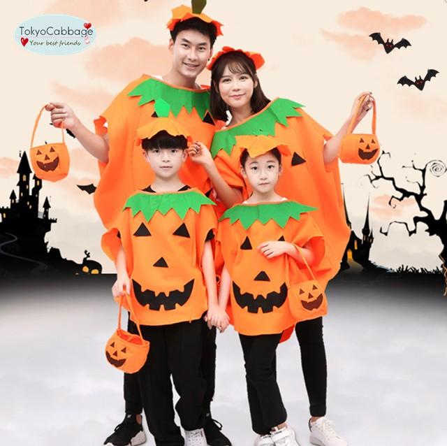 2点以上送料無料 かぼちゃ キッズ コスプレ衣装...
