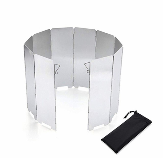 除風板 ウインドスクリーン 折り畳み アルミ 10枚...