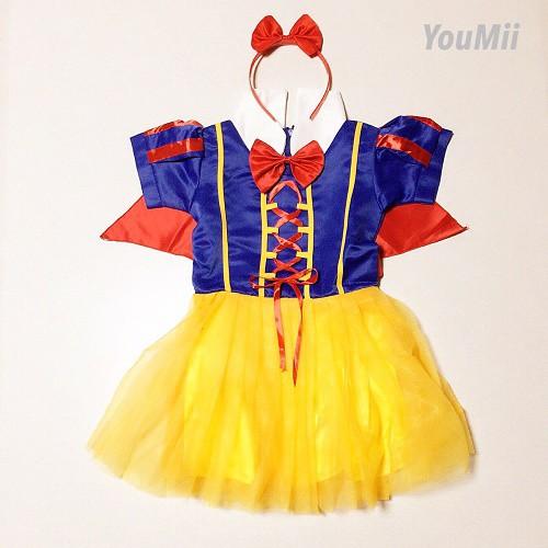 白雪姫 ワンピース 女の子 コスプレ衣装 (ドレス...