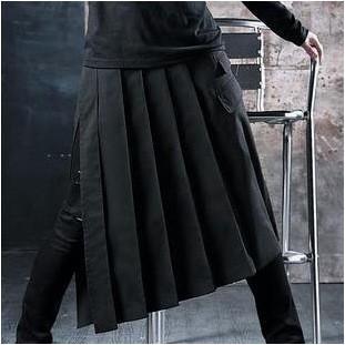 V系 黒メンズスカート