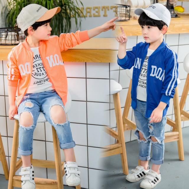 男の子 子供服 5色展開 紫外線対策 ライトアウター キッズ ベビー UVカットパーカー ブルゾン ジャケット ジャンパーラッシュガード