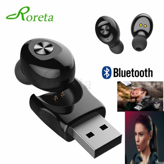 2 Bluetooth イヤホン 片耳 ワイヤレス マイク 無...